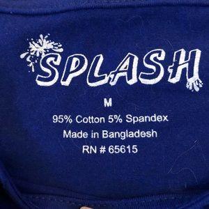 Splash Tops - Splash ⭐️ NWT lt blue/ colbalt  T